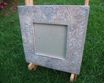 vintage style photo frame,wooden picture frame,up-cycled cottage chic decor,home decor