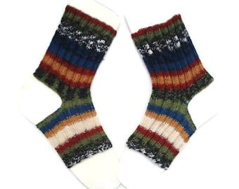 Toeless Yoga Socks, Ankle Warmer, Pilates socks, Yoga Socks, Unique socks, Knitted Yoga Socks, Yoga Accessories, Toeless Socks