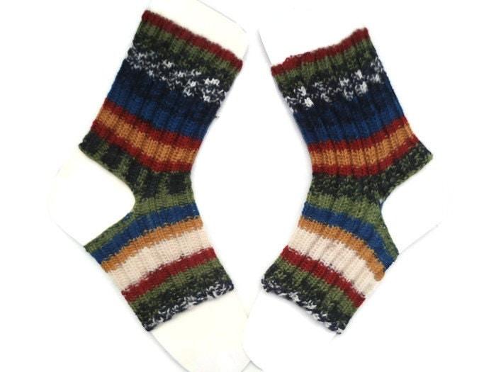 Knitting Pattern For Diabetic Socks : Ankle Warmers Diabetic socks Chemo socks Knitted Socks
