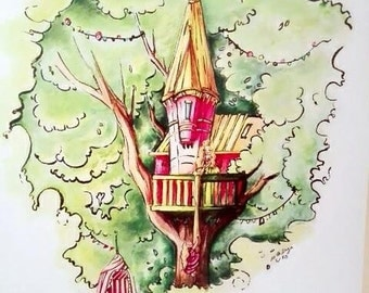 Rapundzel and the treehouse