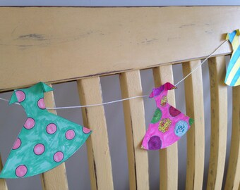 Colour In Dress Bunting page