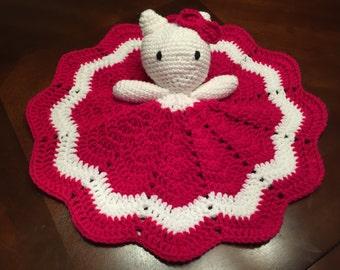 Crochet Hello Kitty Lovey, Security Blanket