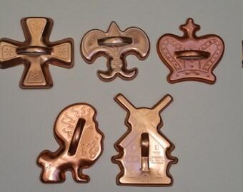 Set of 5 Cute Coppertone Cookie Cutters
