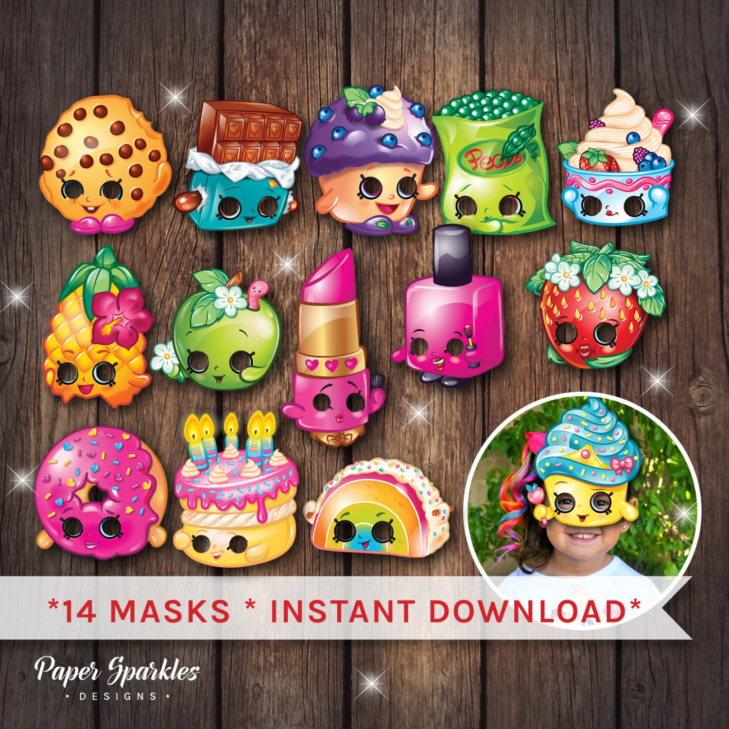 Shopkins Masks Party By PaperSparkleDesigns