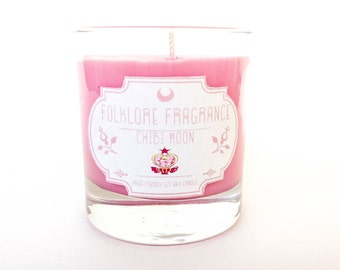 ON SALE! Chibi Moon - Sailor Moon Inspired Scented Soy Candle (Pink Sugar)