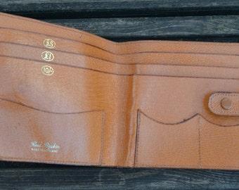 Vintage leather wallet real pigskin
