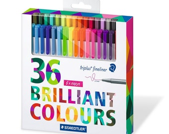 Staedtler Pens - 36 Brilliant Colors! With Neons