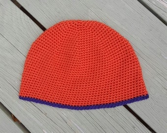 Men's Crochet Beanie Hat - Choose Your Colors, Made To Order