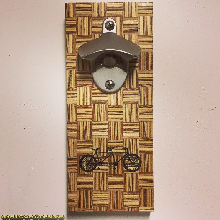 wood parquet wall mount bottle openers by yellowfoxdesigns. Black Bedroom Furniture Sets. Home Design Ideas