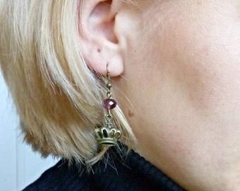 Calla Lily Earrings, Sterling silver ear wire,
