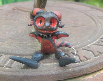"Tiny Posable Black and Red ""Pocket Demon"""
