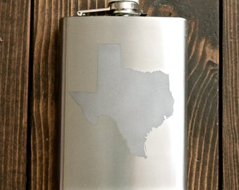 Etched Stainless Steel Flask
