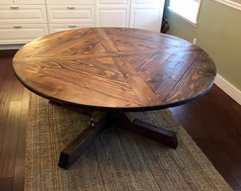Round Rustic Table - Custom