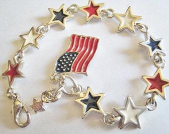 Preimer Designs Red, White and Blue Bracelet