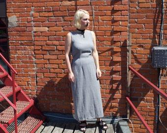 90's Jessica Plaid Maxi Dress