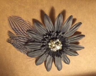 Grey Hair Flare with Reclaimed Vintage Jewelry