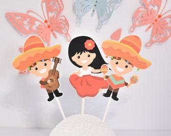 Fiesta Centerpiece, Mexican Birthday Party, Fiesta Decoration
