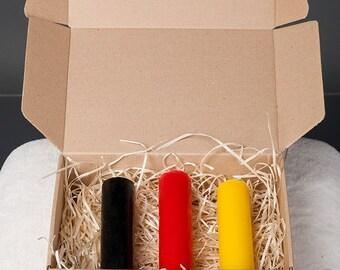 Set of 3 Medium Wax Play Candles