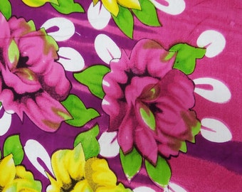 "Cotton Dressmaking Material Sewing Fabric Pink Floral Pattern Printed 44"" Wide Crafting Material Indian Cotton Fabric By 1 Yard ZBC4686"