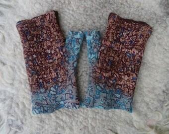 felted wristwarmers wrist warmers arm warmers arm warmers from felt of felt