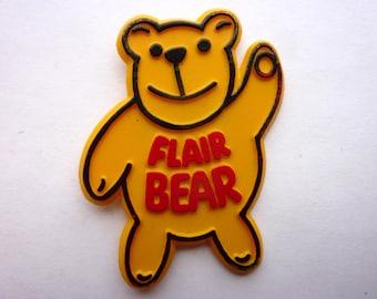 VINTAGE Flair Bear badge