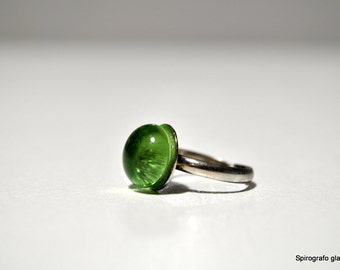 handmade Murano glass ring