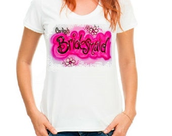 Bridesmaid shirt, Personalized wedding party t-shirts, Bride gifts, personalized wedding, wedding t shirt, custom tees, personalized gifts