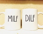 His and Hers...Couples Mugs...Milf | Dilf Mug Set...Collection...Mommy | Daddy Mugs...Wifey | Hubby Mugs...Funny Coffee Mug...Funny Gifts