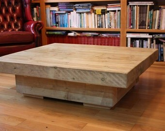 Handcrafted Rustic Sleeper Coffee Table