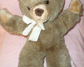 """Eden Bear plush Teddy 15"""" brown cuddle 70's open arms"""