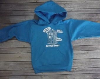 Doctor Who hoodie  All sizes 100% Cotton Print