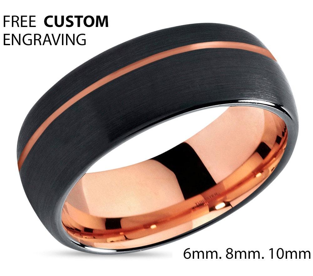 Black Tungsten Weding Rings 06 - Black Tungsten Weding Rings