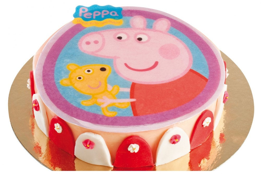 Peppa Pig Edible Wafer Cake Topper 20cm 8 Pre by ...