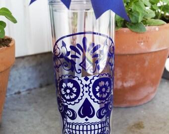 Sugar Skull Tumbler | Sugar Skull Cup