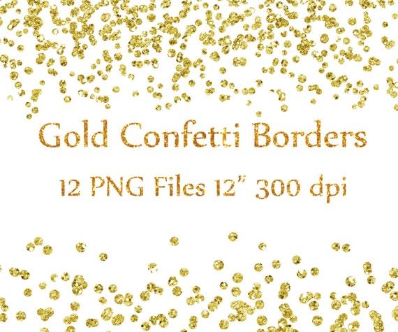 gold confetti borders clipart glitter confetti by chilipapers