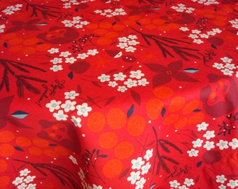 Cotton Christmas TABLECLOTH table-cover rectangle table cloth by Luxoteks