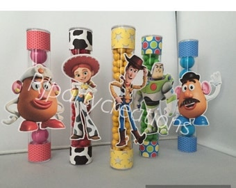 12 Toys Story Candy Tube Favor