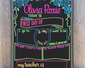 First Day of School Chalkboard / Reusable Birthday Board / Birthday Chalkboard / Photo Prop