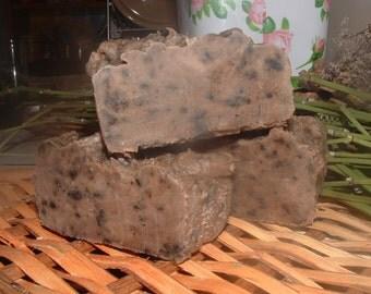 Exfoliating handmade coffee soap