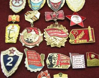 USSR Commemorative pins 15 pieces