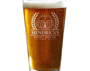 Pint Glasses, Personalized Pint Glass, Engraved Beer Glass, Groomsmen Gift, CustomBeer Glass, Wedding Party Gift, Beer Gift
