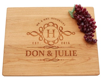 Personalized Cutting Board, Engraved Cutting Board, Wedding Gift, Housewarming Gift, Anniversary Gift