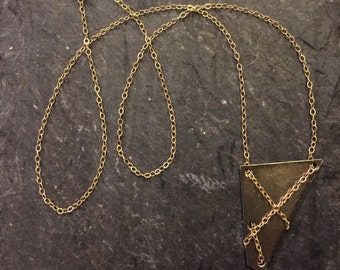 Geometric Oxidized Necklace
