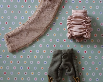 Ruched Satin Top & Knickers Set * Blythe * Pullip *