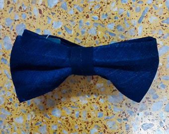 Blue Denim Bowtie