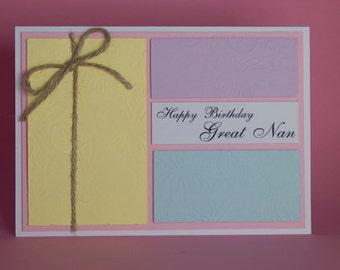 Handmade Embossed Pastel Butterflies birthday card, female birthday card, birthday card for her, butterfly birthday card, pastel butterfly