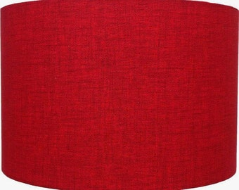 Red Linen Effect Lampshade, Table Lamp, Pendant, Ceiling Shade