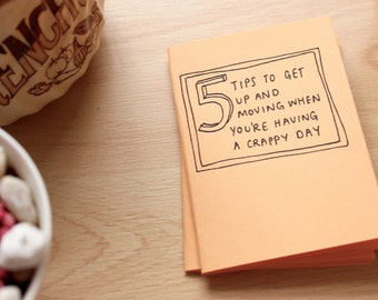 5 Tips to Get up and Moving When You're Having a Crappy Day - Handmade Zine