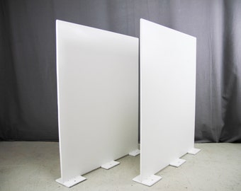 METAL TABLE LEGS: T-plate Steel Legs set of 2, Industrial Steel Legs, Available in every Colour and Raw Steel Legs, 50x70cm