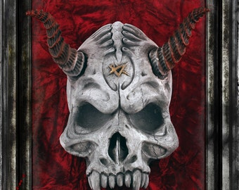Horned Skull Gothic Wall Decoration